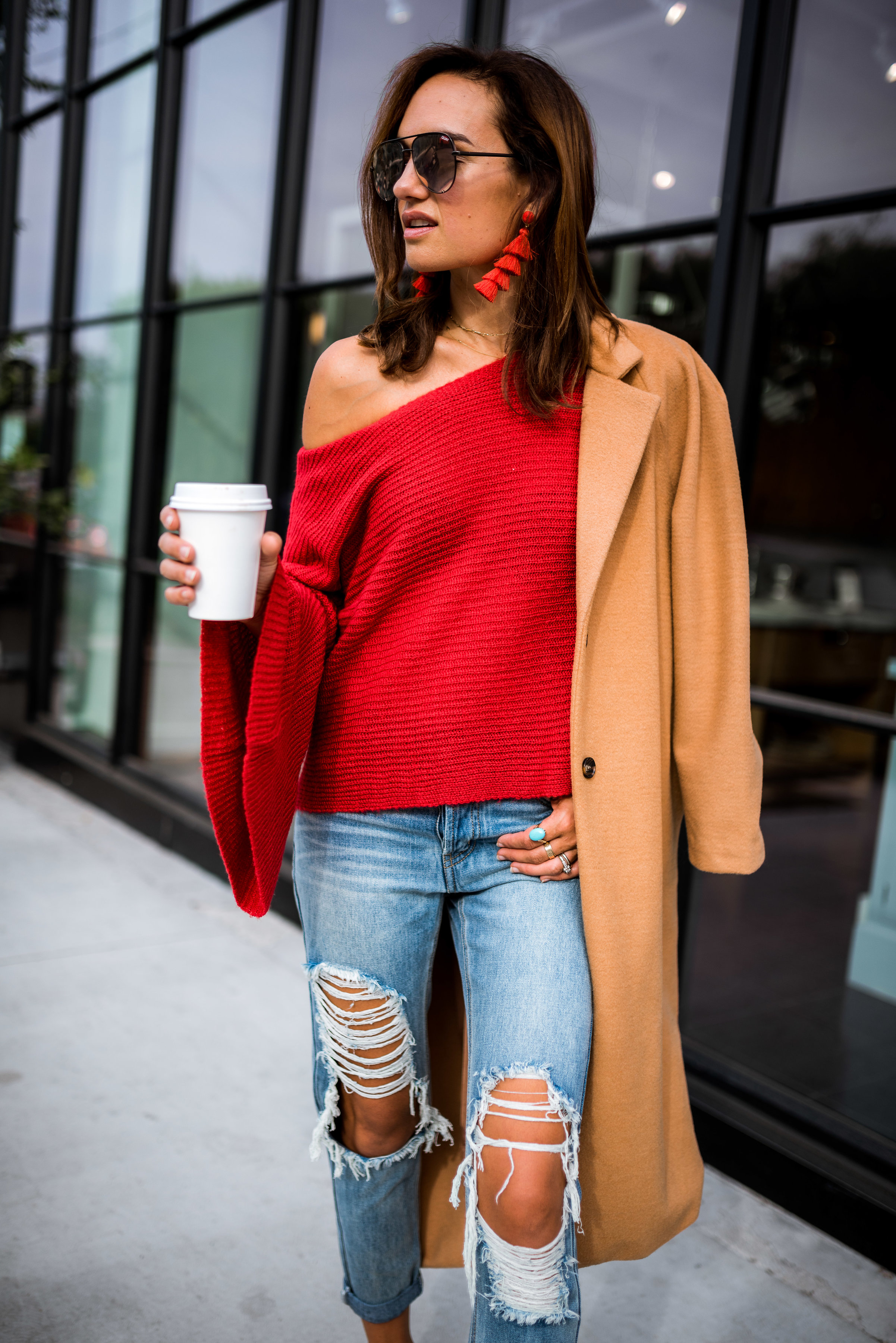 The Cutest Red Sweater Under $40 - Shalice Noel
